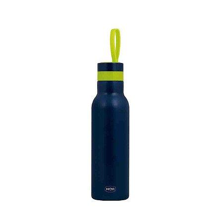 Garrafa Termica Mor Color Azul Fitness Exercício 500 ml
