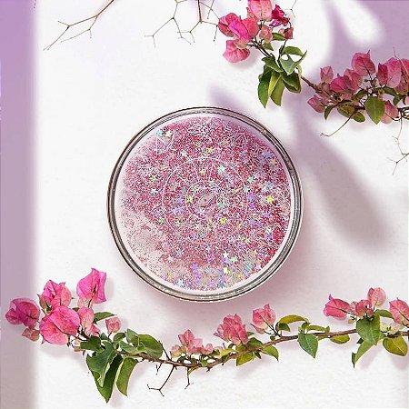 Kit Estojo(case) Luxo Zodíaco com Glitter para viagem Rosa