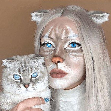 Freshlady Halloween Ragdoll Cat blue