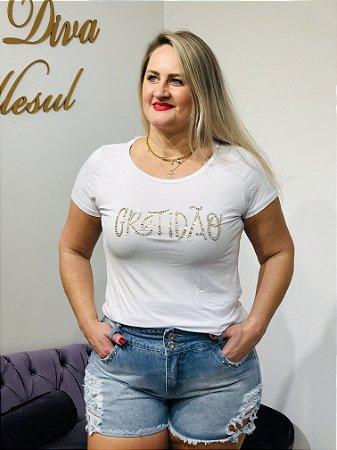 Blusa T-shirt Gratidão Branca