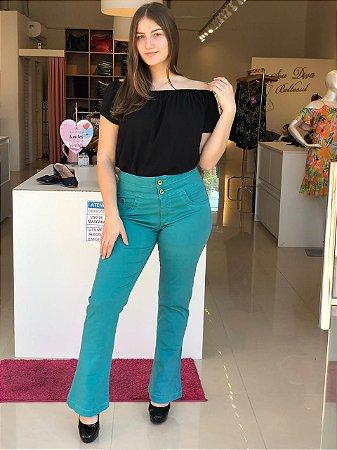 Calça Jeans Flare Cintura Alta 44