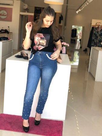 Calça Jeans Perola Renda