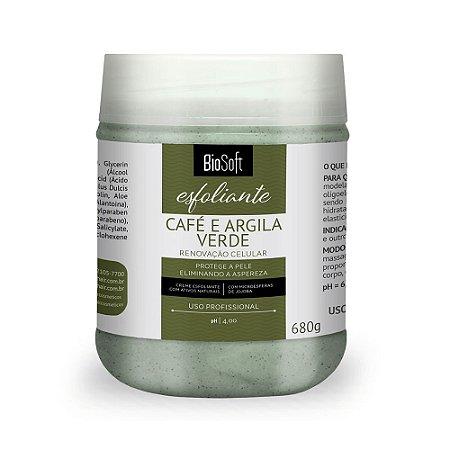 Creme Esfoliante Corporal Café e Argila Verde Bio Soft 680g