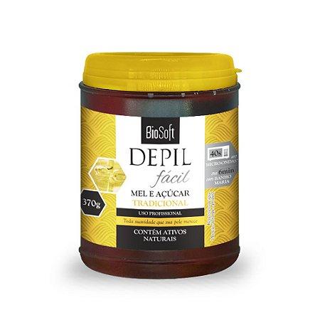 Cera Depilatória Natural de Mel & Açucar Bio Soft 370g