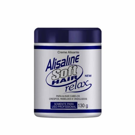 Alisaline Creme Azul (Sódio) - Concentrado 130g Soft Hair