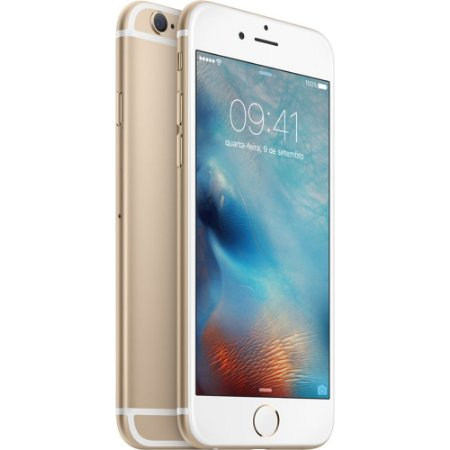 "iPhone 6s 64GB Dourado Tela 4.7"" iOS 9 4G 12MP - Apple"