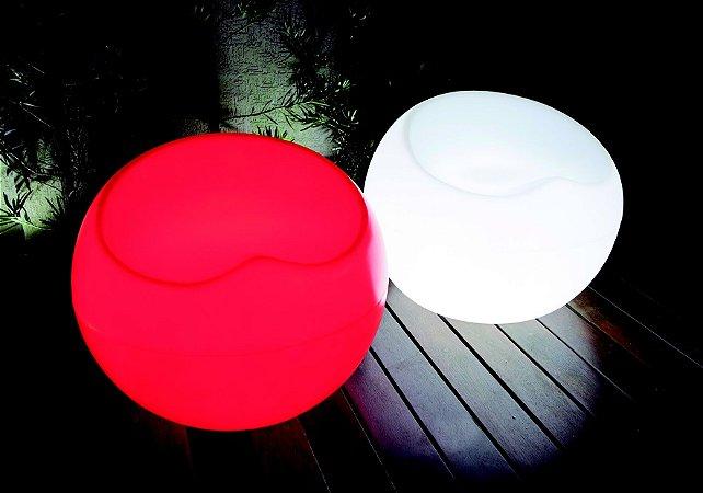 Puff Redondo Cadeira de Plástico Iluminado Freso