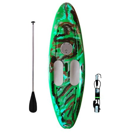 Prancha Stand Up Paddle com Remo e Leash Verde Camuflado Freso