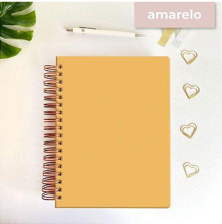 Life Planner - Hot Stamping Bolinhas - Amarelo mostarda