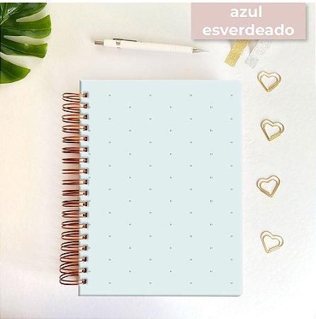 Life Planner - Hot Stamping Bolinhas - Azul esverdeado