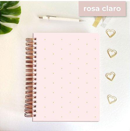 Life Planner - Hot Stamping Bolinhas - Rosa claro