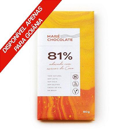 Chocolate 81% Com Açúcar De Coco 80g