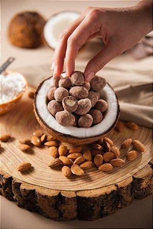 Amêndoa ao Leite de Coco e Chocolate Preto 100g