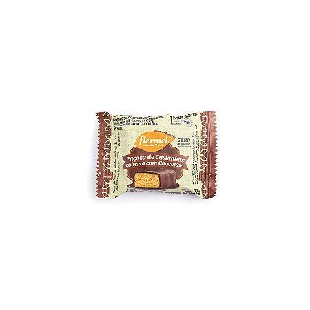 Paçoca de Castanhas Coberta com Chocolate 22g
