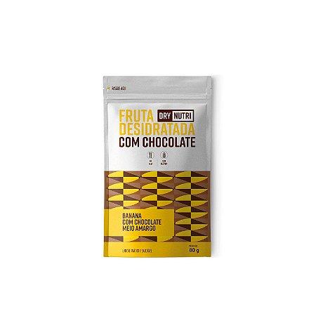 Banana Desidratada com Chocolate Meio Amargo 80g