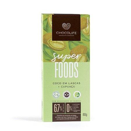 Chocolate 67% Cacau Coco em Lascas e Cupuaçu 80g
