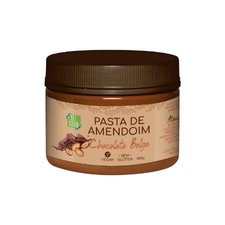 Pasta de Amendoim Chocolate Belga 300g