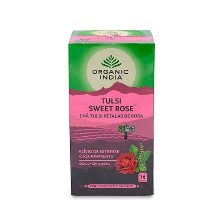 Chá Tulsi Pétalas de Rosa 25 Sachês
