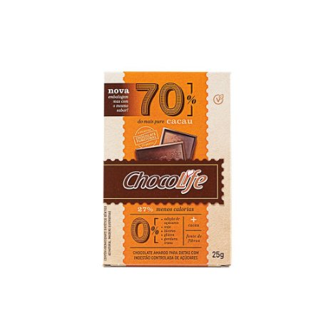 Chocolate 70% cacau 25g