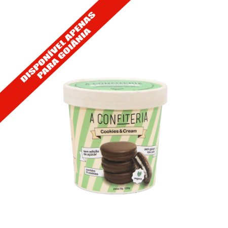 Biscoito Cookies & Cream Vegano 120g *DISPONÍVEL APENAS PARA GOIÂNIA*