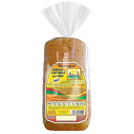 Pão Artesanal Integral Diet Centeio e Castanha do Pará 400g