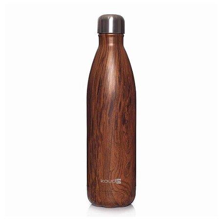 Garrafa Térmica Kouda Inox Wood Grey 750ml