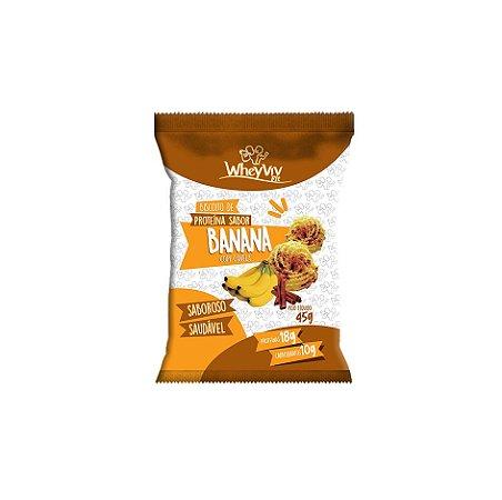 Biscoito Fit de Banana com canela com Whey Protein 45g