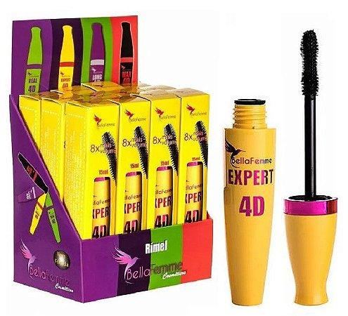Mascara Rimel Cílios Bella Femme Expert 4D - Box c/12 Unidades