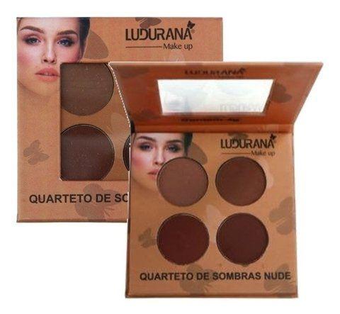 Quarteto de Sombras Nude M00032 - Ludurana