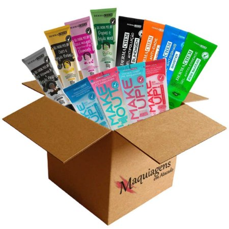 Kit Revenda Dermachem - Sabonete Hidratante Gel e Mascara - 12 Itens