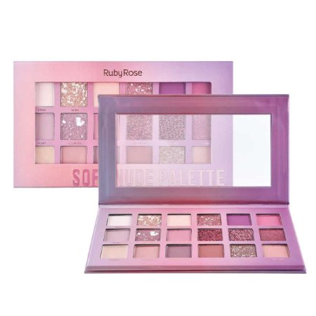 Paleta de Sombras Soft Nude Feels Ruby Rose HB1045