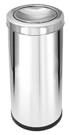 Lixeira Inox com tampa Basculante - 22L