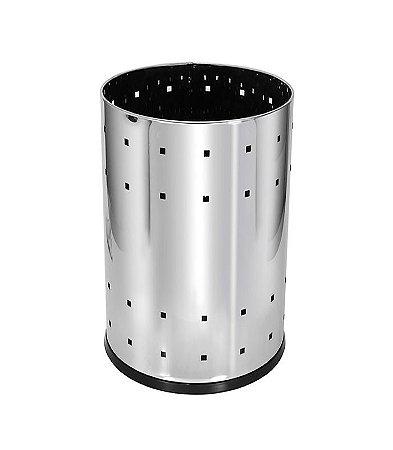 Lixeira Telada em Aço Inox 22L