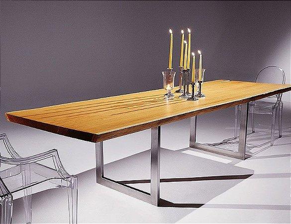 Mesa de Jantar Garapa Inox