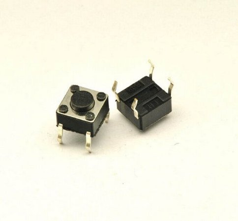 Push Button 1A preto (6 x 6 x 4,3 mm)