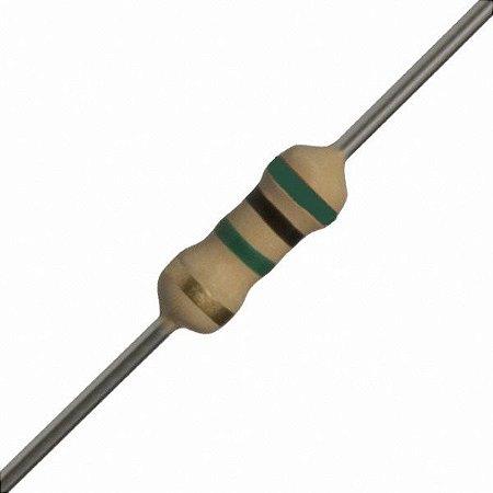 Resistor de filme de carbono de 1/4 de watt - 5,1MR