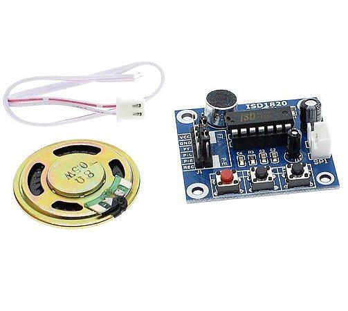 Módulo gravador e reprodutor de áudio ISD1820