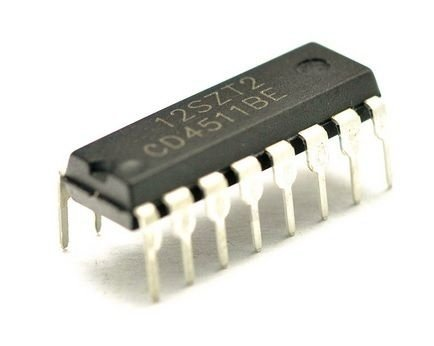 CD4511BE (Decodificador BCD para display de 7 segmentos)