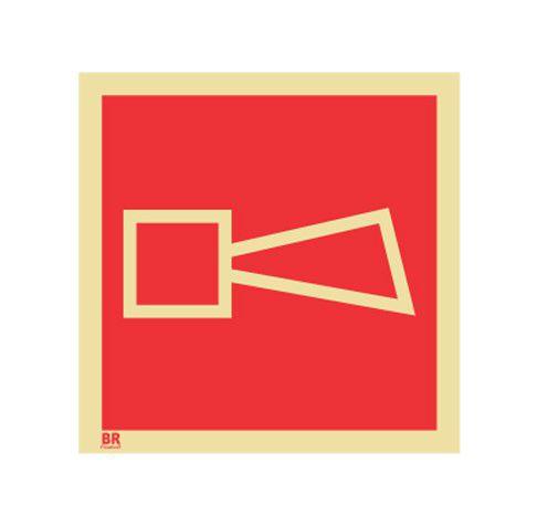 Placa Alarme Sonoro E1 15X15cm Fotoluminescente