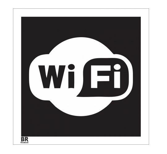 Placa Branca Rede Wi-Fi 20X20cm