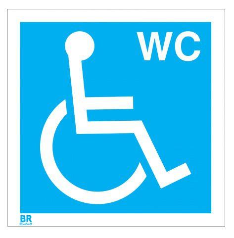 Placa Branca Banheiro Wc Cadeirante 20X20cm
