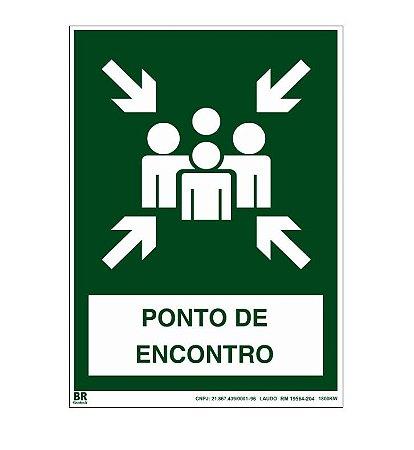 Placa Ponto de Encontro 20X30cm Fotoluminescente