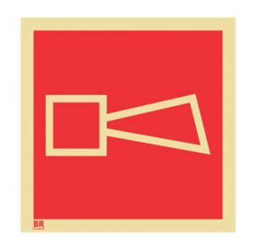 Placa Alarme Sonoro E1 30x30cm Fotoluminescente