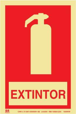 Placa Extintor 15x20cm Fotoluminescente
