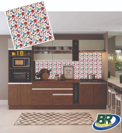 Adesivo de Parede Vinílico Mosaico 2 100x60cm