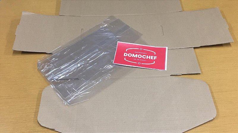 Embalagem de Papelão Adesivada + Celofane