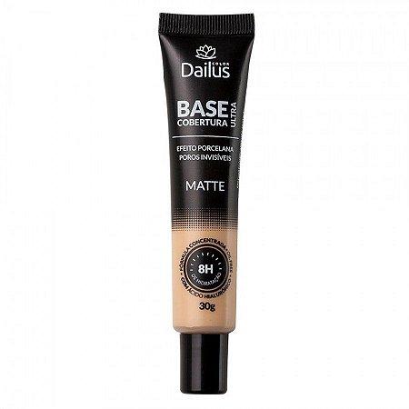 Base Facial Dailus Matte Ultra Cobertura - 04 Bege Claro