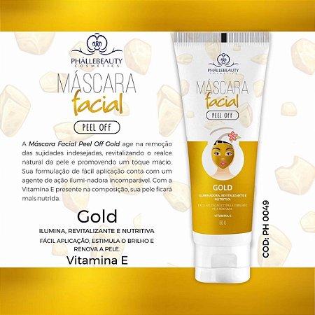 MASCARA FACIAL GOLD PHALLEBEAUTY PH0049