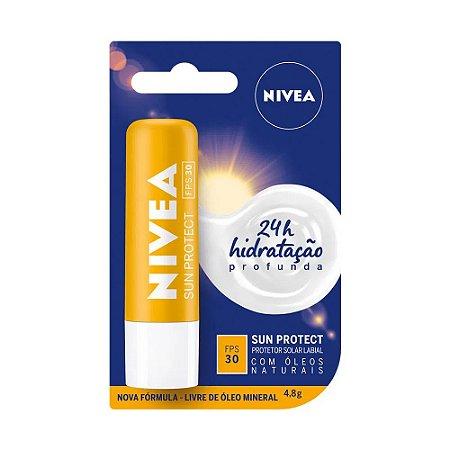 PROTETOR LABIAL NIVEA SUN PROTECT FPS30