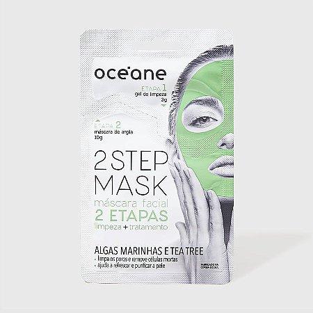 2 Step Mask - Máscara Facial Algas Marinhas e Tea Tree